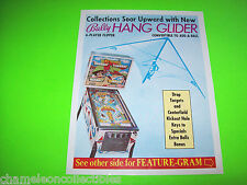 HANG GLIDER By BALLY 1977 ORIGINAL PINBALL MACHINE PROMO SALES FLYER