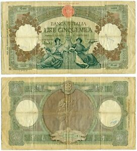 ITALY NOTE 5000 LIRE 13.8.1956 P 85c