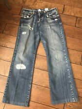 LUCKY BRAND Dungarees Jeans 2/26 Distressed EASY RIDER Button Fly