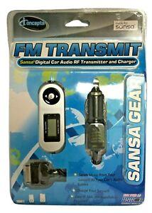 Sakar iConcepts FM Transit Digital Car Audio RF Transmitter Charger Sansa Gear