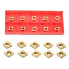 10Pcs Box Gold CCMT060204 US735 CCMT21.51 Coated Carbide Cutter Inserts Tools
