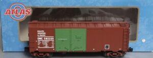 ATLAS O 3-RAIL DULUTH WINNIPEG PACIFIC 1937 40' AAR DOUBLE DOOR BOX CAR! O SCALE