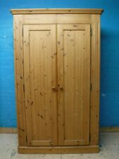 CHUNKY WIDE RUSTIC SOLID PINE WOOD DOUBLE 2 DOOR WARDROBE H203xW128cm  SEE SHOP