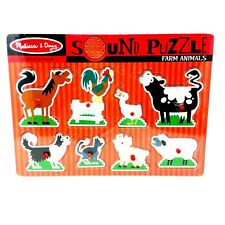 Melissa  Doug Farm Animals Sound Puzzle - Wooden Peg Puzzle With Sound Effects