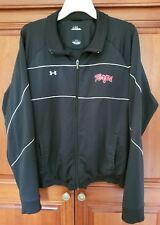 Under Armour Maryland Terrapins Mens Large Jacket Black Embroidered Full Zip EUC