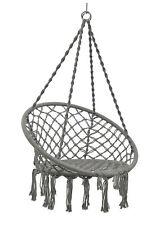 Hammock Chair Swing Hanging Rope Seat Net Chair Tree Porch Patio Indoor Outdoor