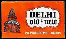 Souvenir Delhi Old & New 20 Picture Post Cards Booklet.