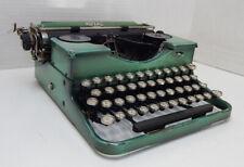 1920's Royal Portable Typewriter in Case Working Duo-tone Green