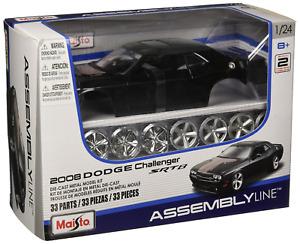 Maisto 1:24 Scale Assembly Line 2008 Dodge Challenger SRT8 Diecast Model Kit May