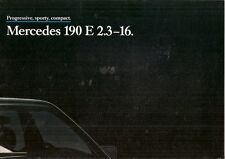 Mercedes-Benz 190E 2.3-16 Cosworth 1984-85 UK Market Launch Foldout Brochure