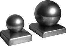 Zaunkappe Pfostendeckel mit Kugel aus Stahl Abdeckkappe Tor Ornament 110x110 Ø80