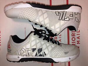 Reebok CrossFit Nano 4.0 CF74 Training Shoes White M43443 Women's 10 EUC