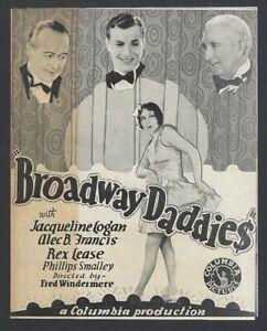 Broadway Daddies 1928 herald Jacqueline Logan Alec B. Francis zaz
