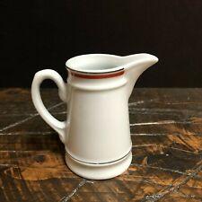 Porcelaine d'Auteuil FRANCE Lobjoy Creamer Rust Orange Service Bistrot