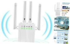 WiFi Range Extender, 1200Mbps Wireless Signal Repeater Booster, Dual Band White