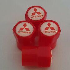 MITSUBISHI Plastic Wheel Valve Dust caps all models Red 7 Colours EVO ASX MIRAGE