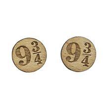 Harry Potter Mini Wood Earrings Platform 9 3/4 Cute Geek Jewelry