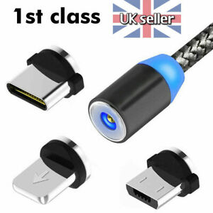 3 in 1 Magnetic Fast Charging USB Cable Charger Phone Type-C Micro USB Iphone 2A