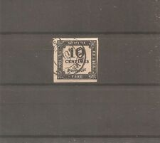 TIMBRE FRANCE FRANKREICH 1859 TAXE N°2 OBLITERE USED BAR LE DUC