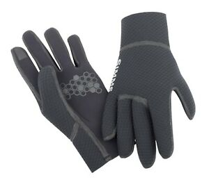 Simms Kispiox Waterproof Fishing Gloves (Color Black) (Size Large)