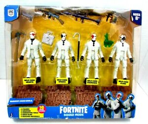 Fortnite Squad Mode High Stakes Wild Card 4 Figure Pack Toy- NEW DAMAGE BOX