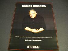 Randy Newman Academy and Grammy Award Winner original 2018 Promo Poster Ad mint