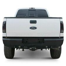 For Ford F-250 Super Duty 99-16 Fortis Full Width Textured Black Rear HD Bumper