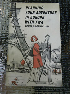 TWA AIRLINES Planning Your Adventure In Europe Brochure Booklet 1964 - EB87