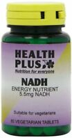 Health Plus NADH 5.5mg Energy Supplement - 60 Tablets