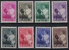 Belgium:1937 Sc#B189-96 Mlh Queen Astrid andPrince Baudouin m098