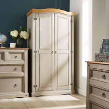 Delivery Can Be Arranged Gentle Woodstock Double Wardrobe Two Drawer Solid Pine Durable Service