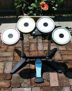 Xbox 360 BeatlesRock Band Wireless Drum Set, Pedal, Sticks Tested XBDMS3