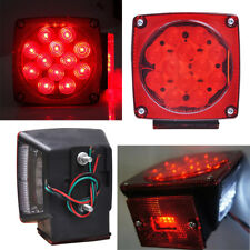 "2X LED Submersible Square Light Kit Trailer Under80"" Tail Stop Brake Boat Marine"
