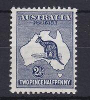 K775) Australia 1913 Kangaroos 1st wmk 2½d Indigo ACSC 9