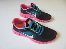 Girl's NIKE 'Free Run 3' Sz 7 US Runners Near New Black Pink | 3+ Extra 10% Off