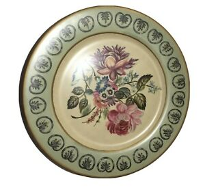 TOYO Plate Floral Rose By Lilian August Antique Style RARE Art Plate Light Green