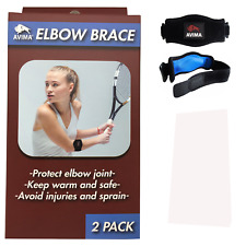 [2 Pack] AVIMA BEST Tennis Elbow Brace Strap Tendonitis Golfers Relief Support