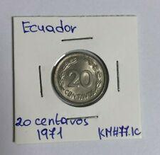 Ecuador 20 centavos, 1971