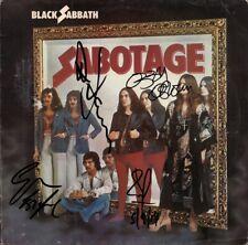 BLACK SABBATH Sabotage, FULLY SIGNED Vinyl LP Ozzy Osbourne Tony Iommi AUTOGRAPH