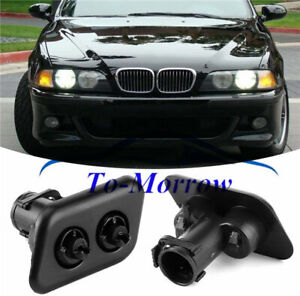 Left & Right Headlight Washer Nozzles 61678360661 61678360662 For Bmw E39 525i
