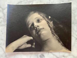 Art Deco 1920~1930s Photograph Up Close Veiled Portrait H. Richardson Cremer