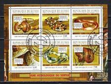 Animali Serpenti Guinea (272) Serie 6 Francobolli Usati in Foglio