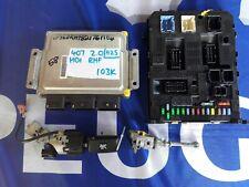 PEUGEOT 407 2.0 HDI ECU BSI KIT AND LOCK SET RHF DELPHI 9663548180 9664058880