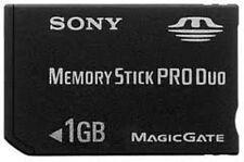Oficial SONY Memory Stick Pro Duo 1GB Oro Negro Genuino Tarjeta de 1.0 Gb Psp