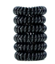 Hair Ties Spiral Ring Coils 6 Ponytail Holder Plastic Phone Cord Elastics Bands