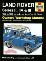 LAND ROVER SHOP MANUAL SERVICE REPAIR BOOK HAYNES GAS DIESEL SERIES 1958-1985