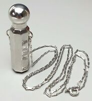 Lange Haferkorn Kette 835 Silber mit großem Parfum-Flakon 835 Silber massiv /A92