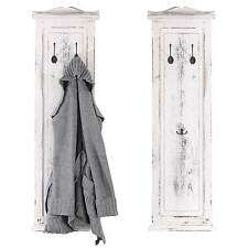 2x Garderobe Wandgarderobe Wandhaken 109x28x3,5cm, Shabby-Look, Vintage weiß