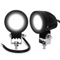 2x 10 W Brillant Cree LED Voiture Moto Travail Brouillard Lumière Faisceau Lampe