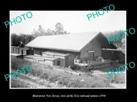 OLD LARGE HISTORIC PHOTO OF BLAIRSTOWN NEW JERSEY, ERIE RAILROAD STATION c1910 3